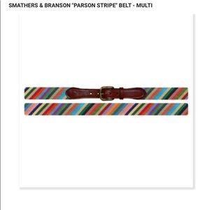 Smathers & Branson Parson Stripe Belt Size 36